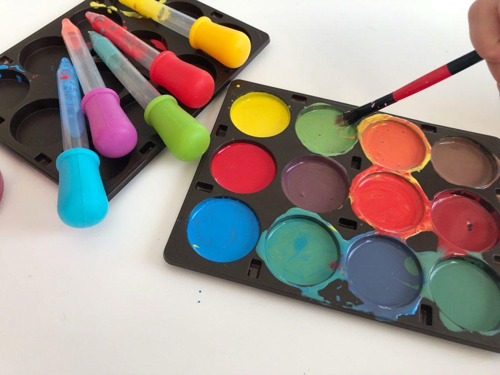 aprender la mezcla de colores