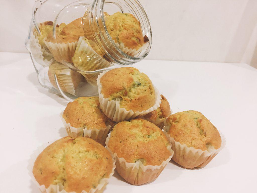 Muffins de calabacín receta para hacer con niños