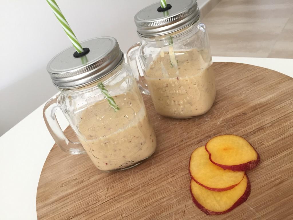 smoothie de nectarina y platano