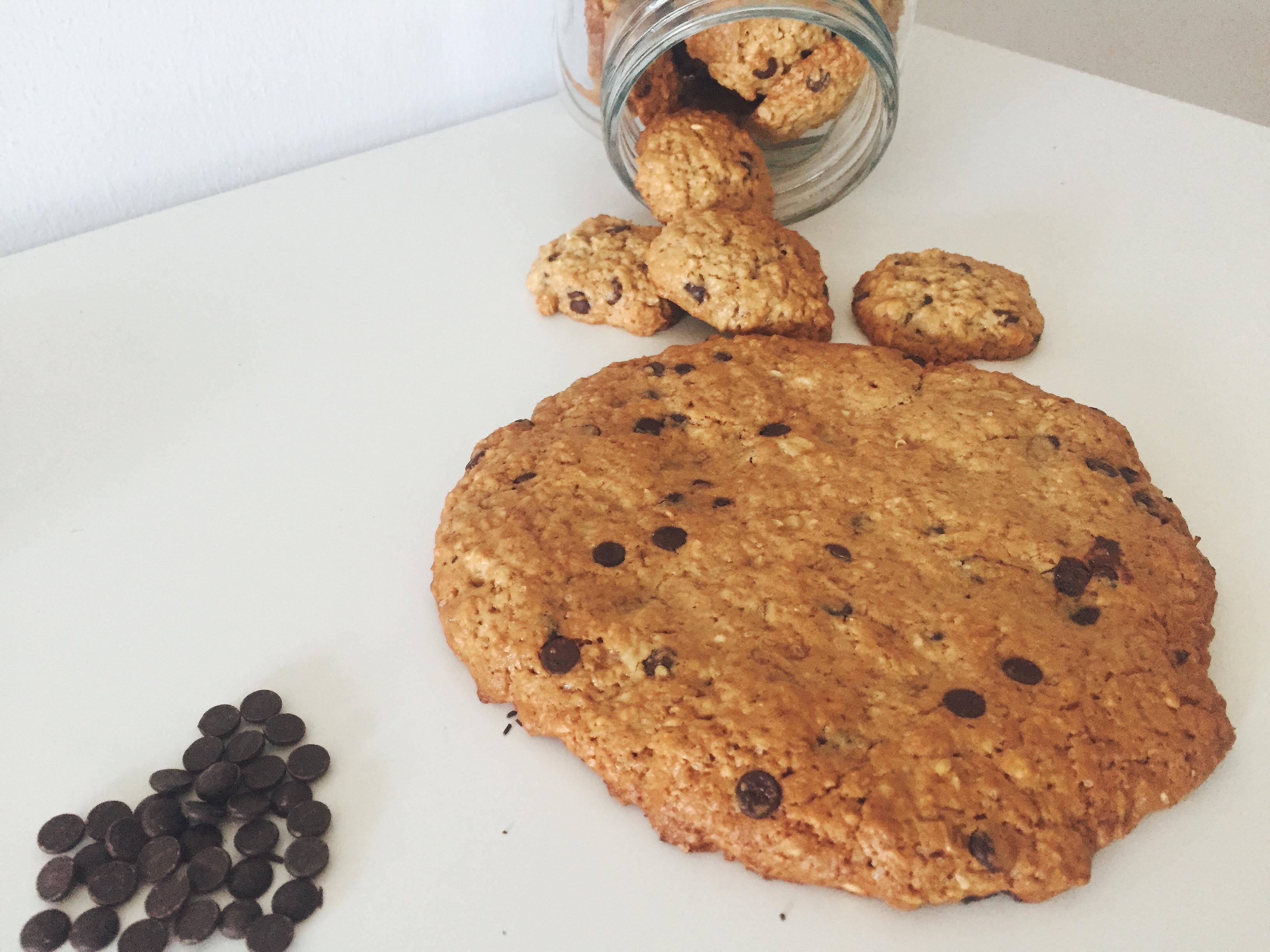 galletas de avena y chocolate para niños
