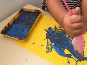 Pintar con plumas