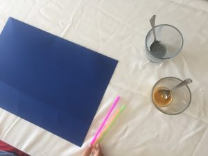pintar con pajitas