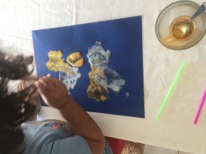 pintar con cañas
