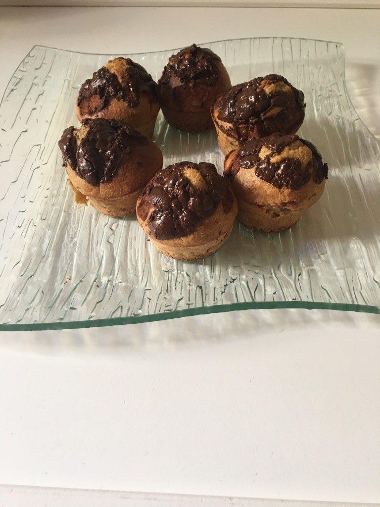 cupcakes saludables de platano