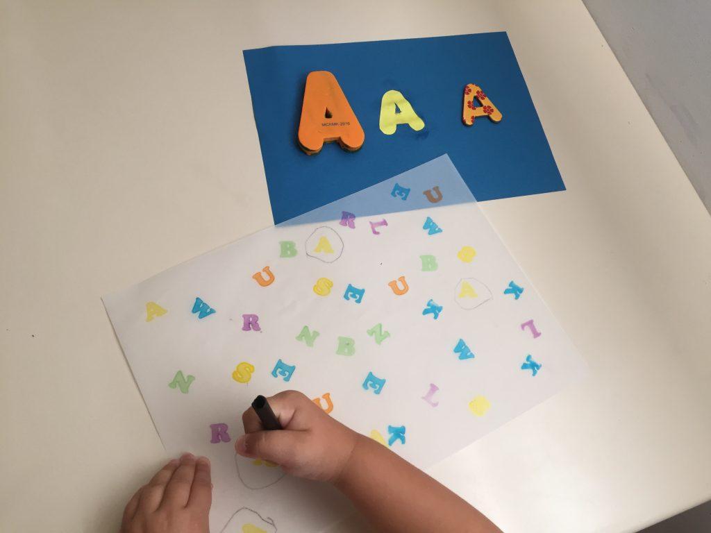 letras educacion infantil
