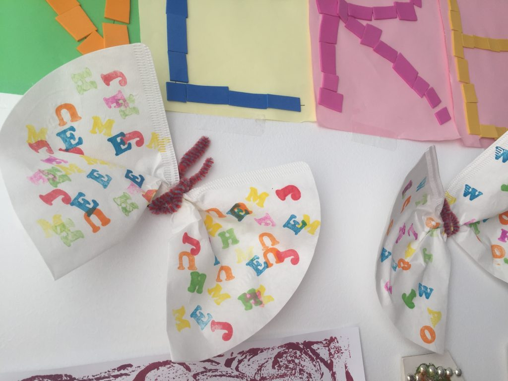 Mariposas decorativas con filtro de cafe
