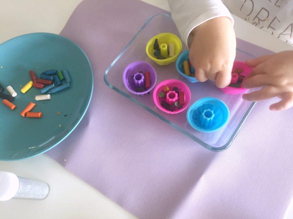 reutilizar ceras de colores o crayones