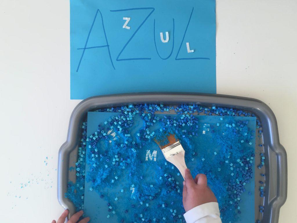 juegos con Letras en Azul