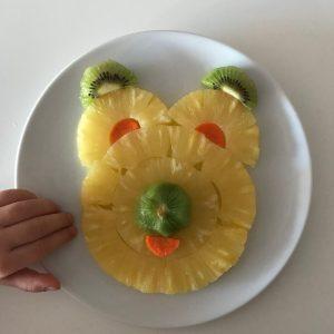 fruta divertida, oso de piña