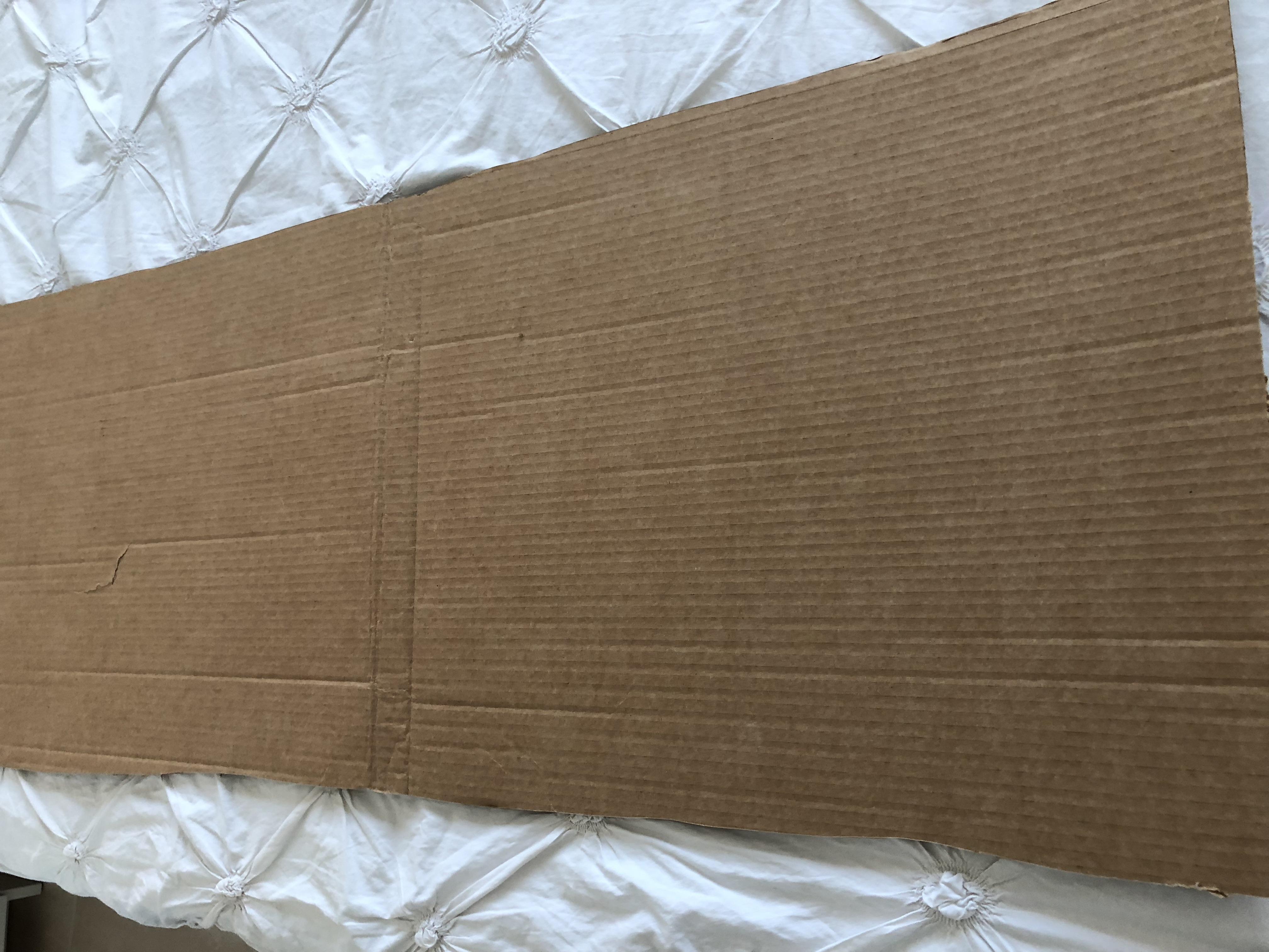 Trozo de carton para manualidades