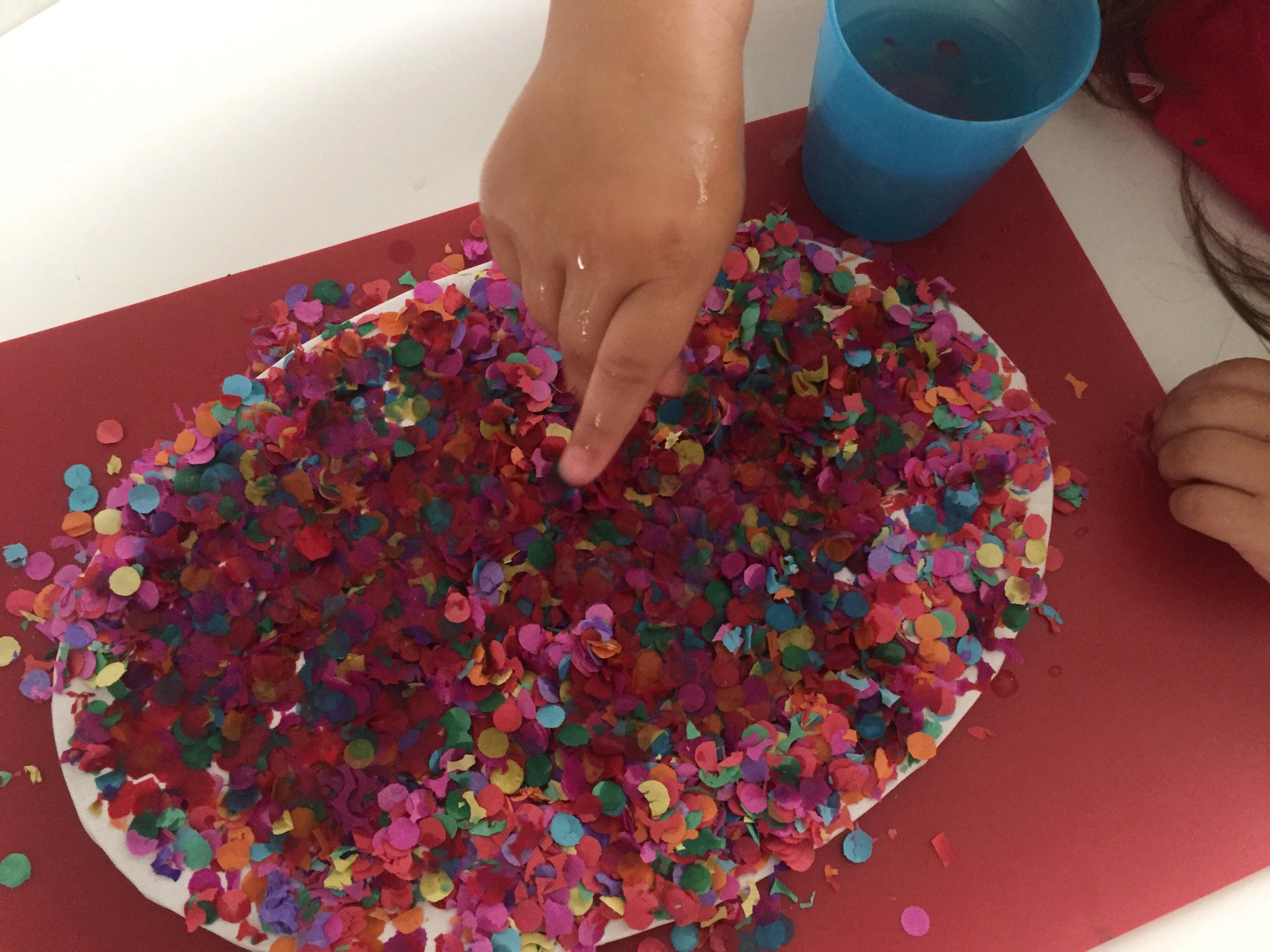 teñir con confeti