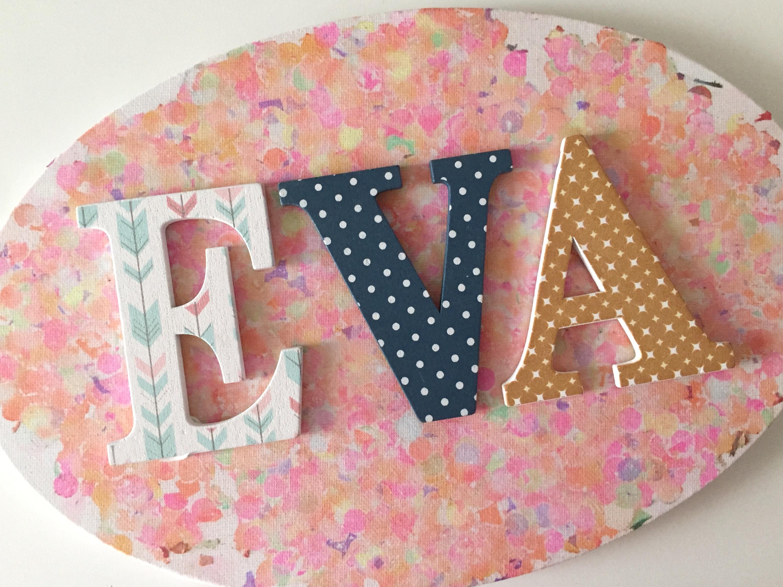 cuadro teñido con confeti