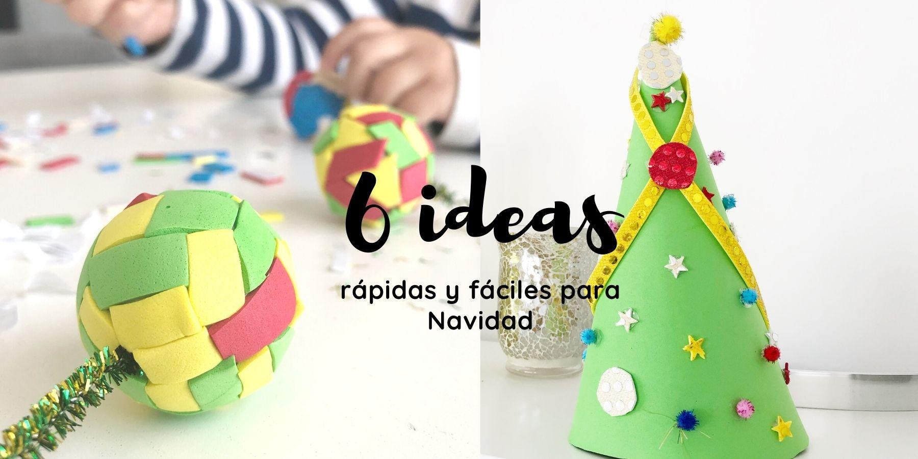 6 manualidades infantiles de navidad