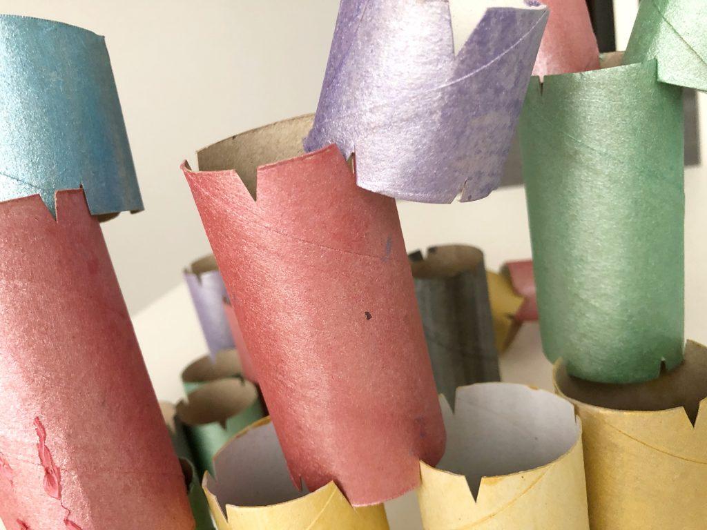 reutilizar rollos de papel