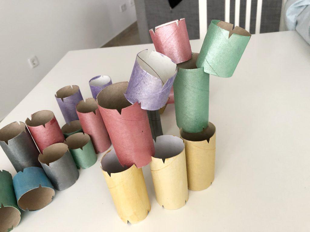 manualidad con rollo de papel