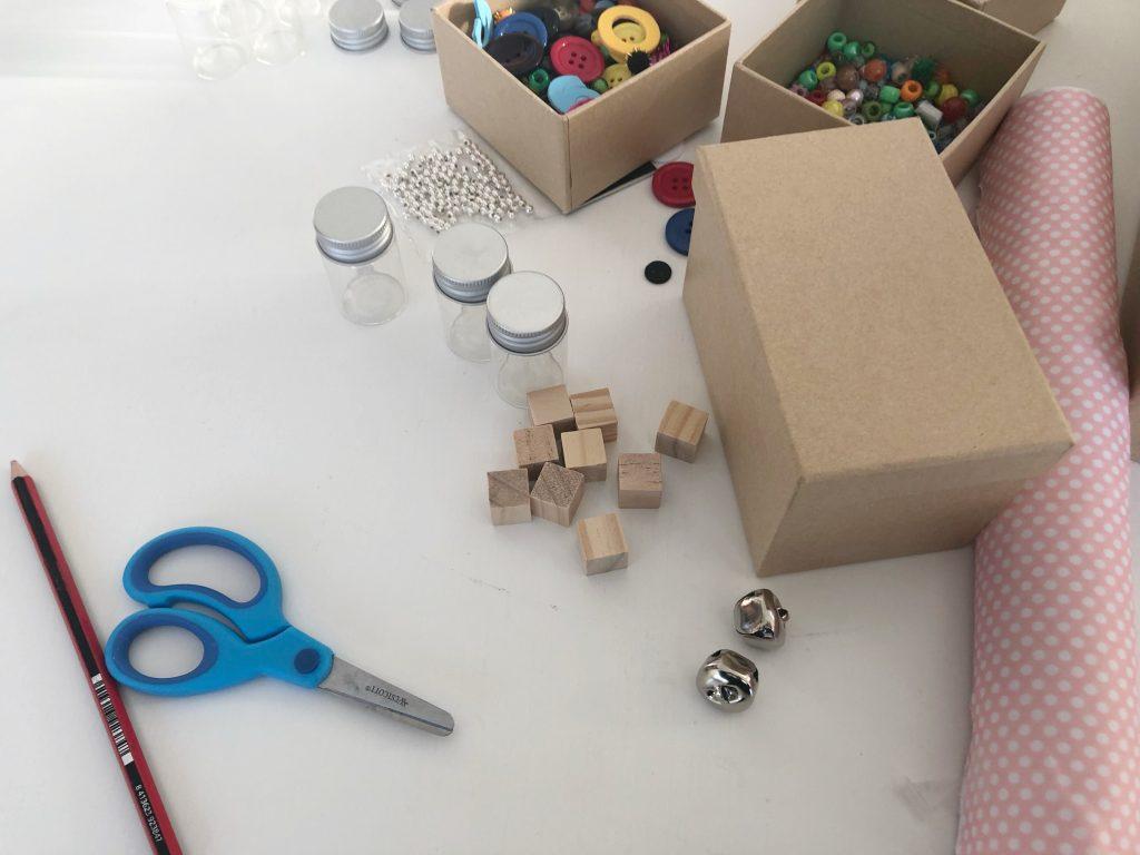 materiales para jugar con los sonidos