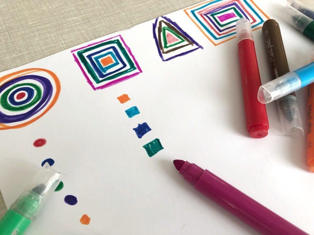actividades para aprender los colores, el orden y las formas geométricas