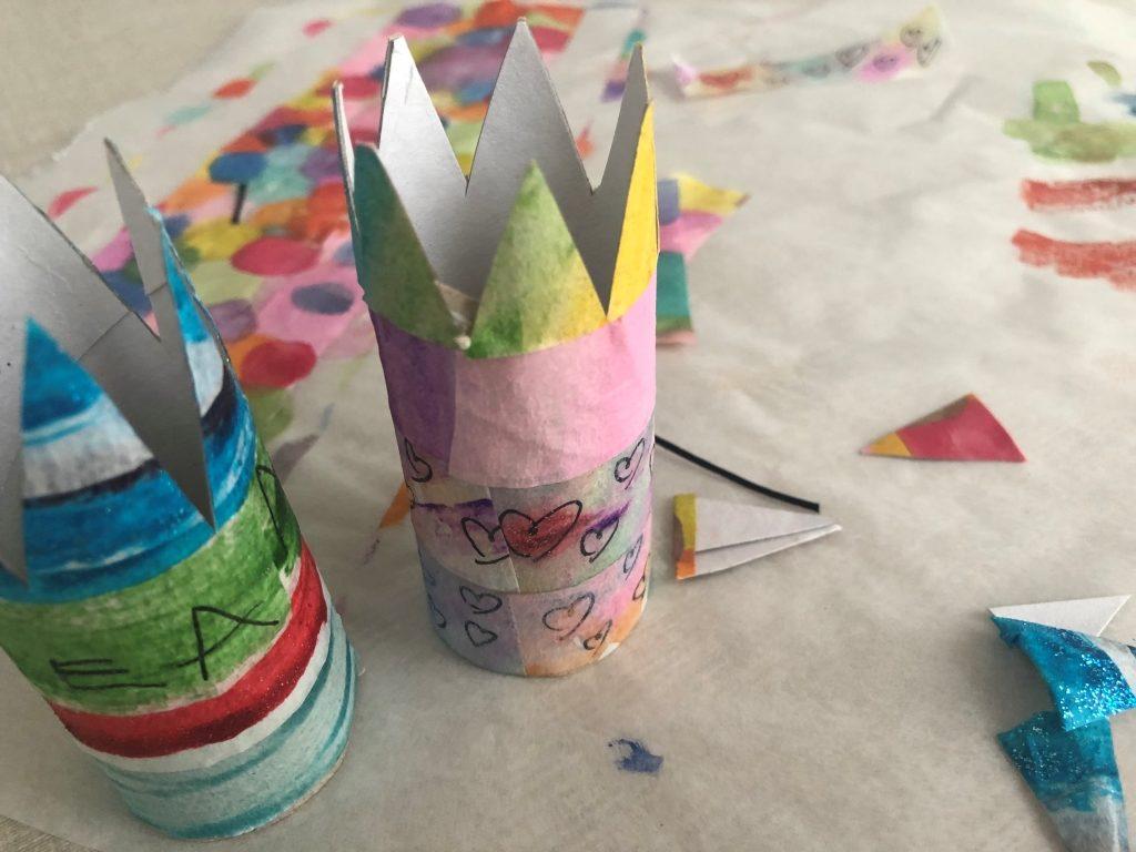 corona manualidad para niños