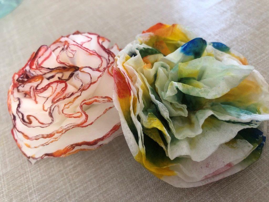 flores con pañuelos