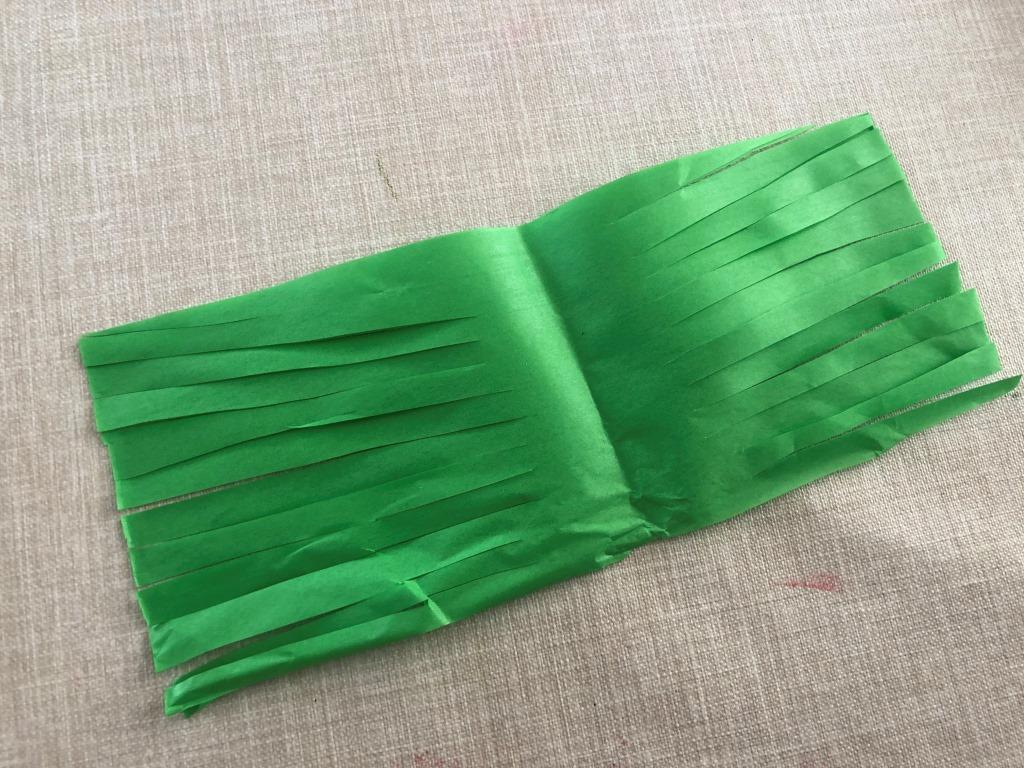 hacer flecos de papel
