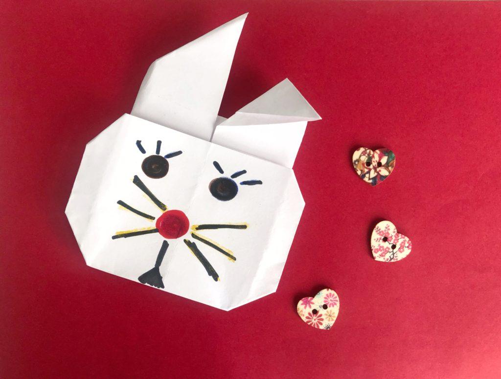 conejo de origami para niños