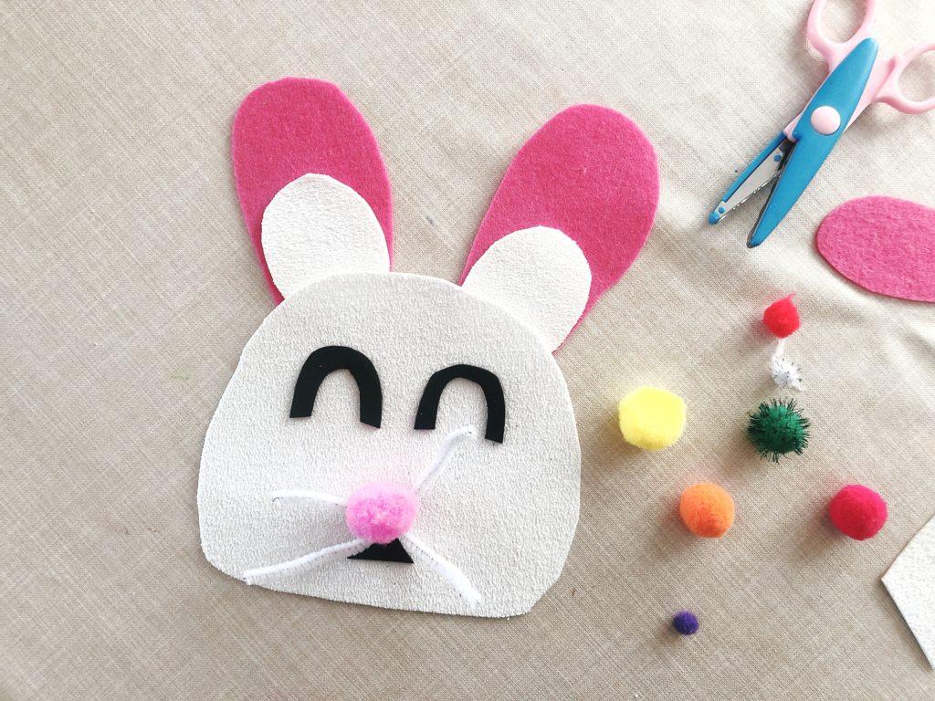 conejo de pascua manualidad para niños