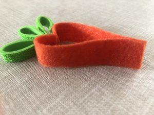 zanahoria diy manualidad