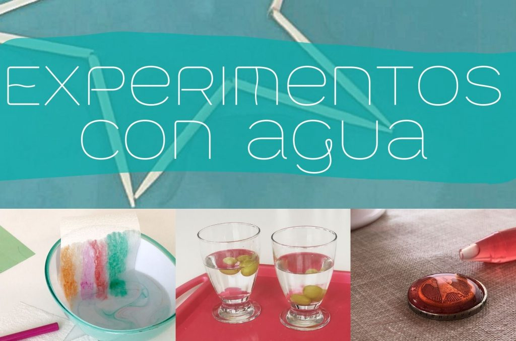 experimentos infantiles faciles con agua