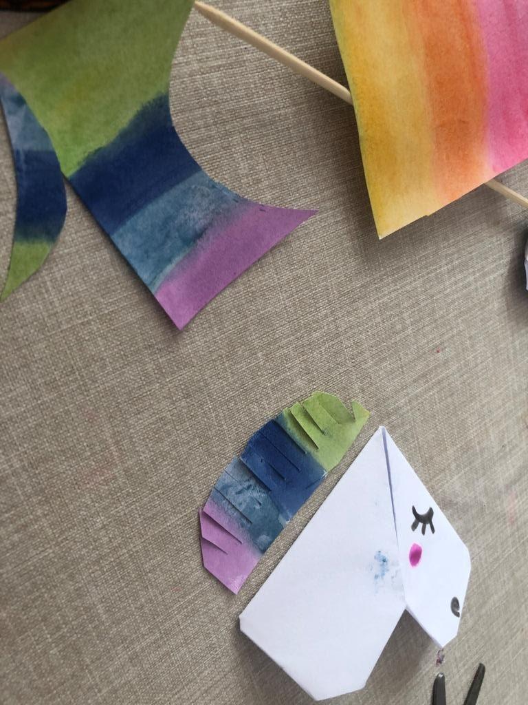 hacer unicornio origami facil