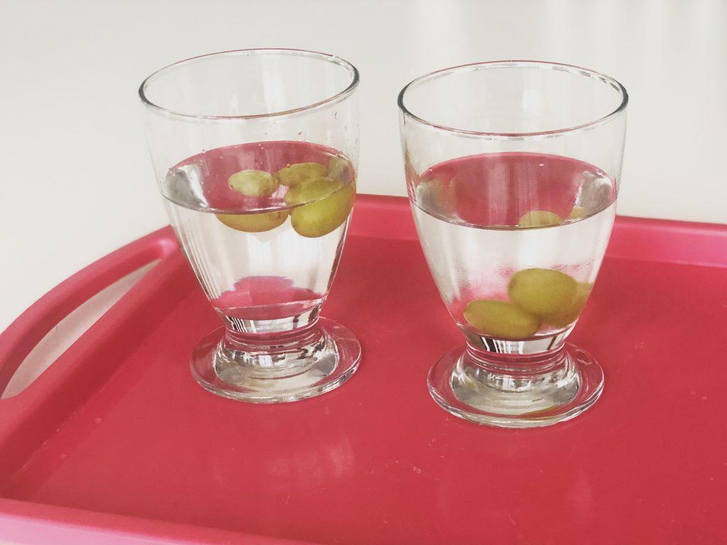 experimento con agua y sal