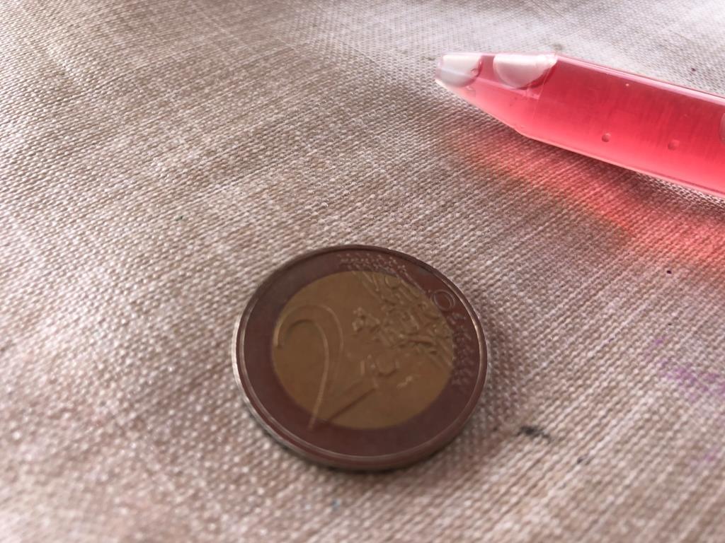 experimento gotas en una moneda