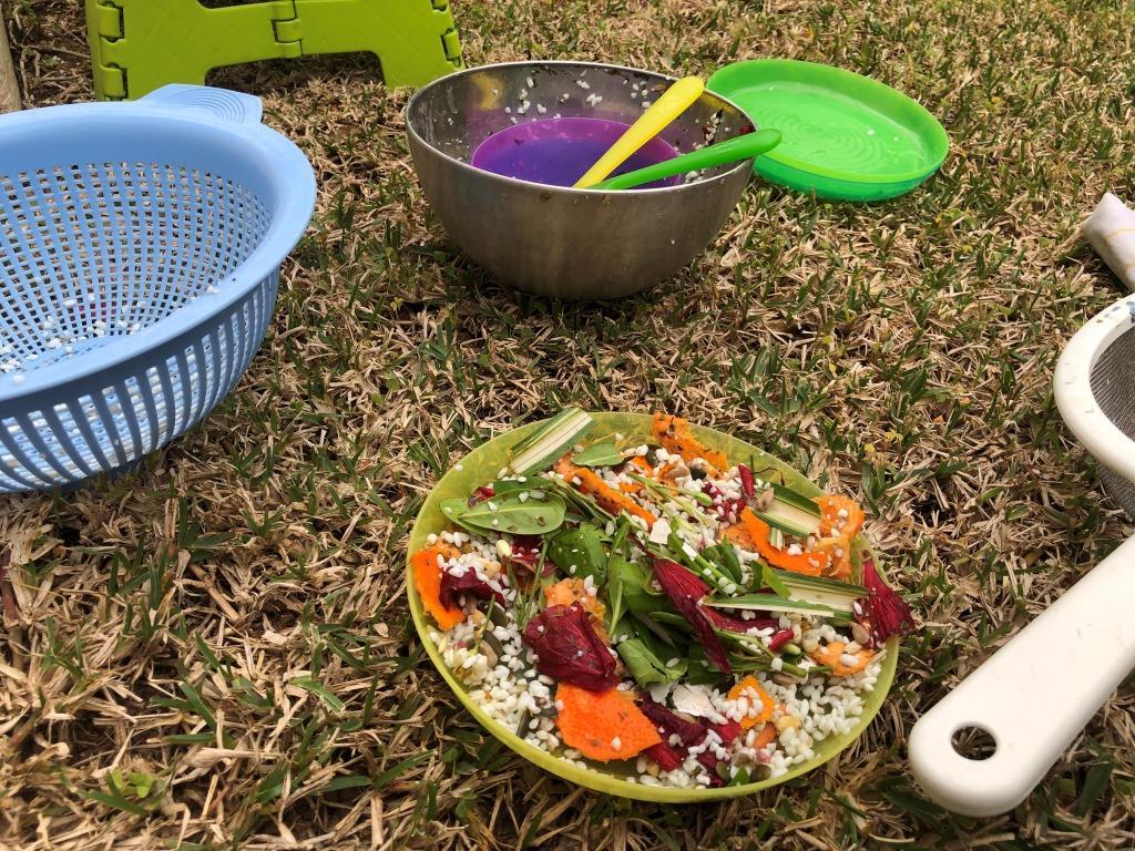 cocina con elementos naturales juegos infantiles