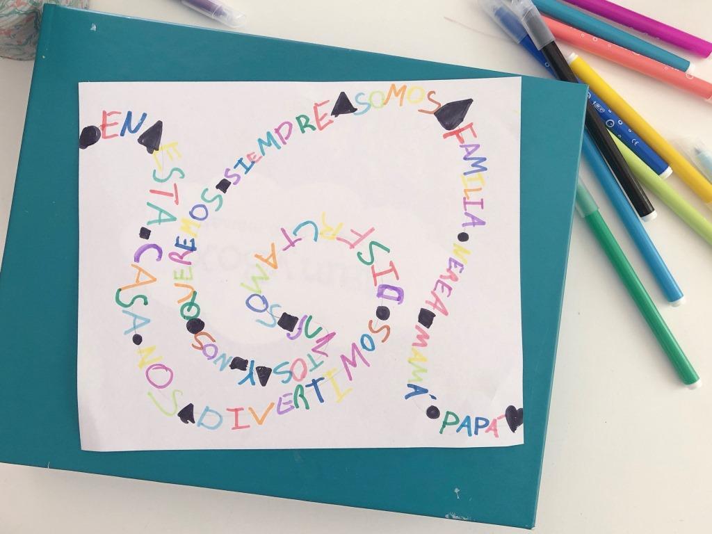 arte infantil con letras