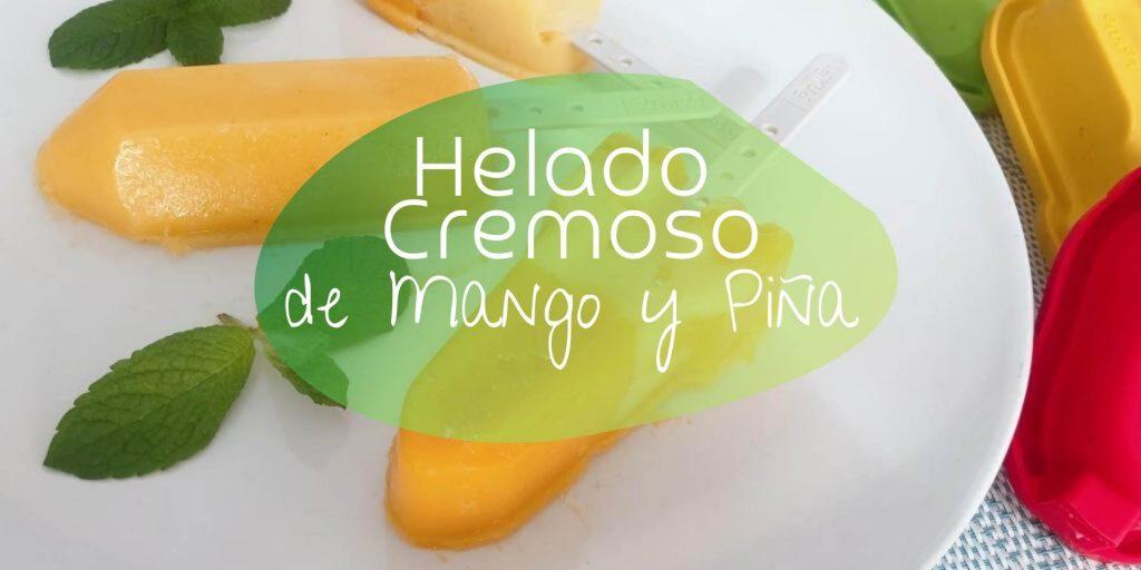 helado de mango y piña