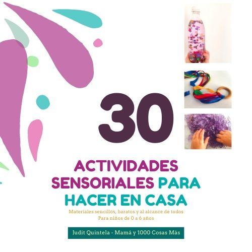 30 actividades sensoriales para hacer en casa