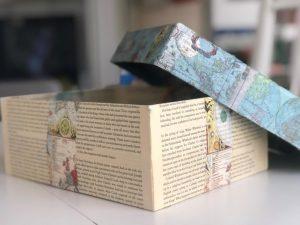decoupage con hojas de libros