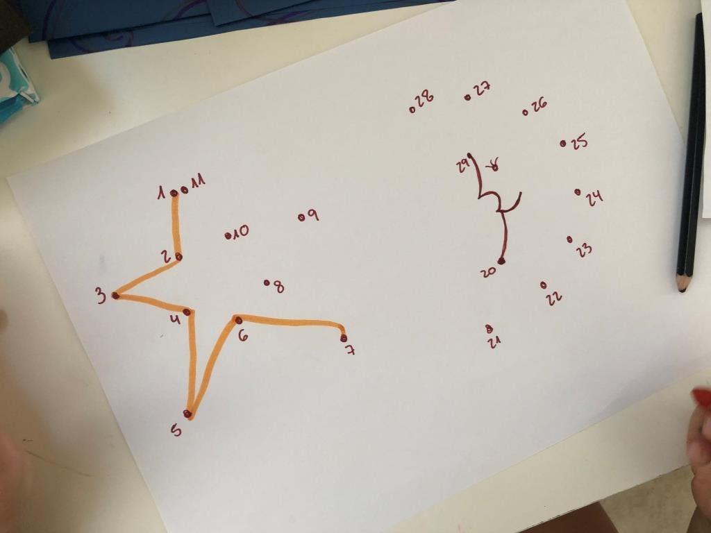 dibujos infantiles uniendo puntos