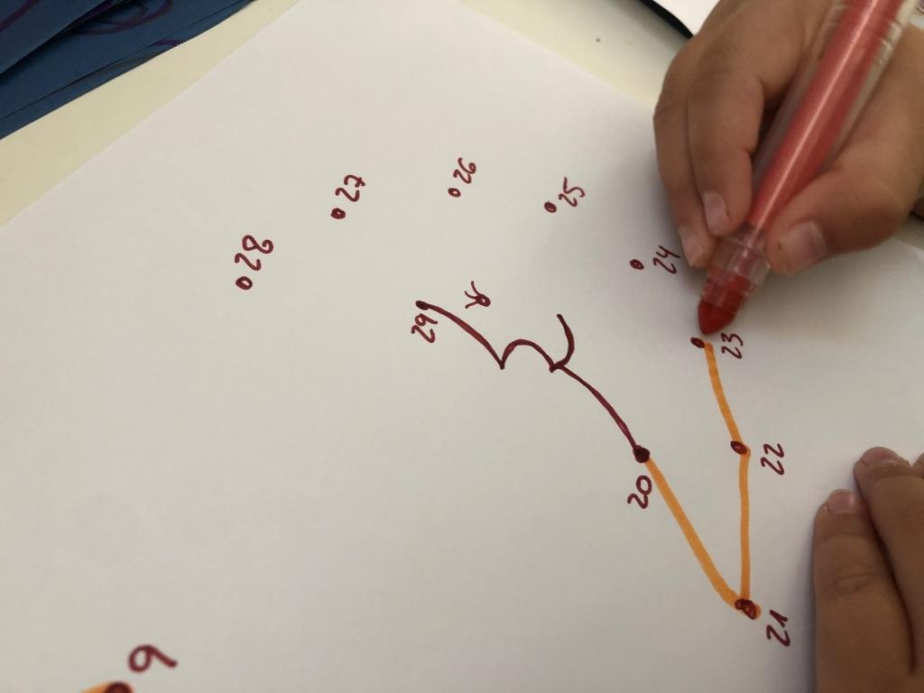 dibujo unir números para niños