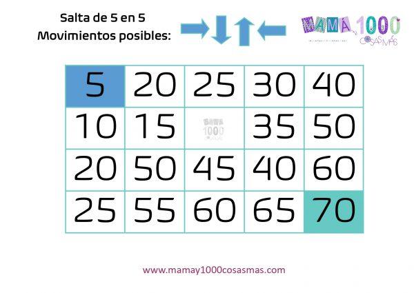 juego para aprender secuencias numericas