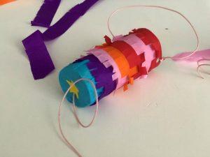 piñata diy tubos de carton niños