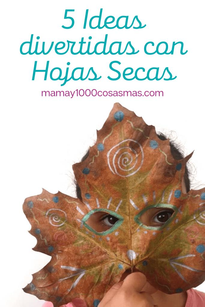 ideas divertidas con hojas secas para hacer en casa con niños