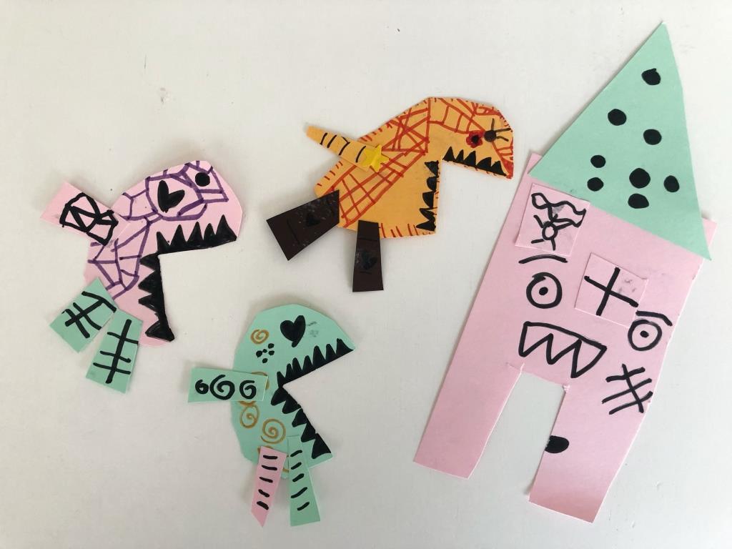 Monstruos divertidos de papel para niños