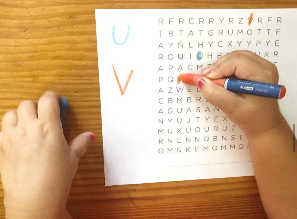 primeros juegos con las letras