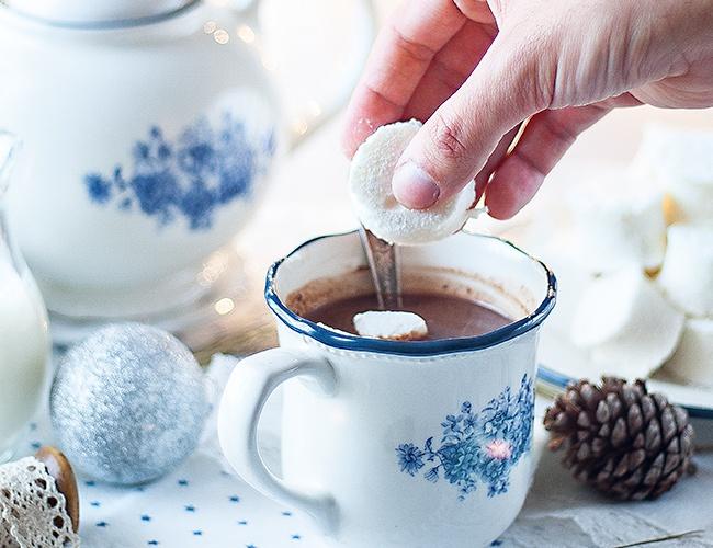chocolate caliente para tomar las tardes de invierno