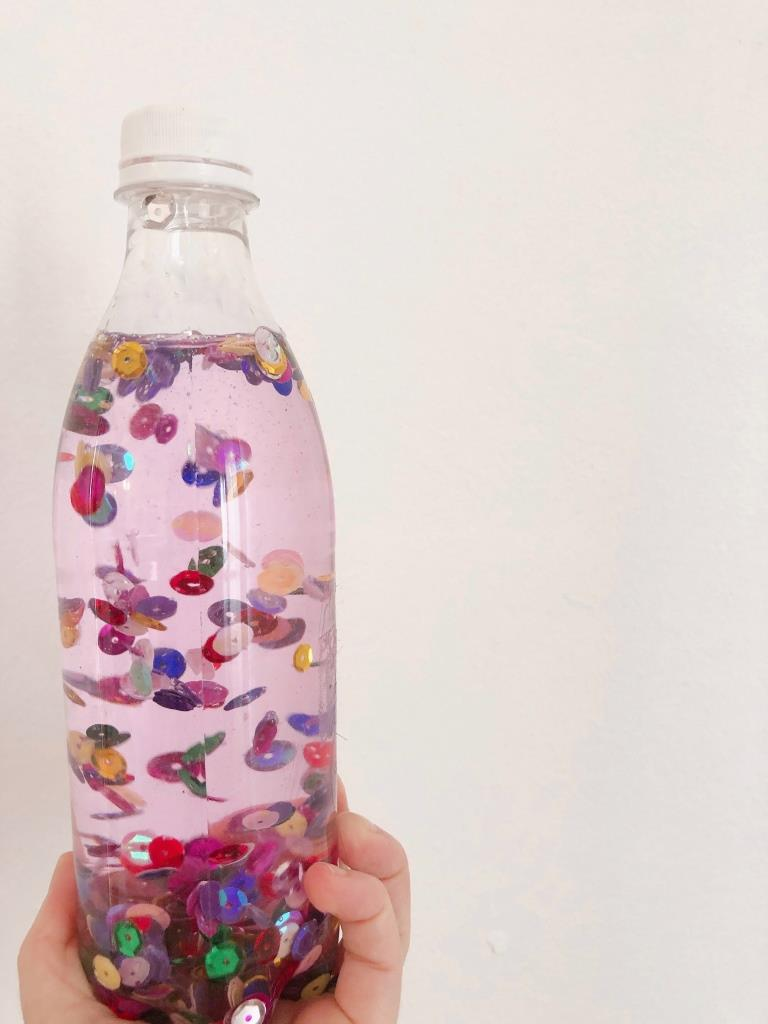 botella de la calma DIY