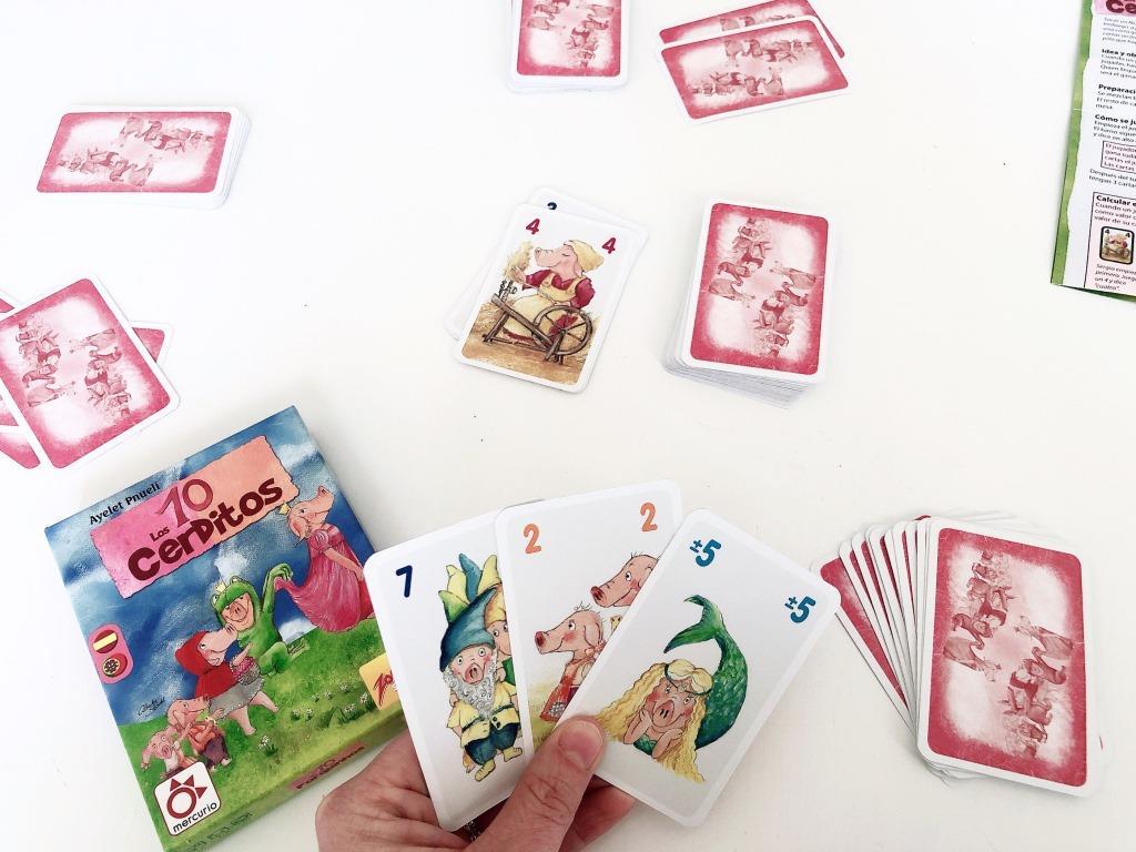 juego de mesa 10 cerditos calculo mental aprender jugando