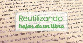 ideas para reutilizar las hojas de un libro